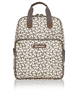 Make a play for patterns with our butterfly-print backpack, designed with a spacious zipped compartment plus side pouches and a front pocket. Adjustable shoulder straps offer a customisable fit.