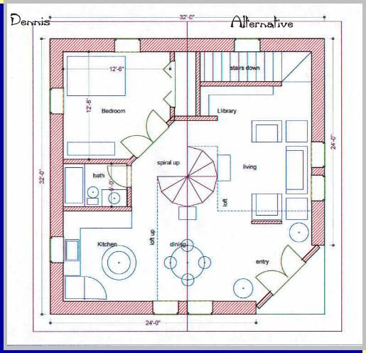 A straw bale house plan 750 sq ft guest house for Strawbale house plans
