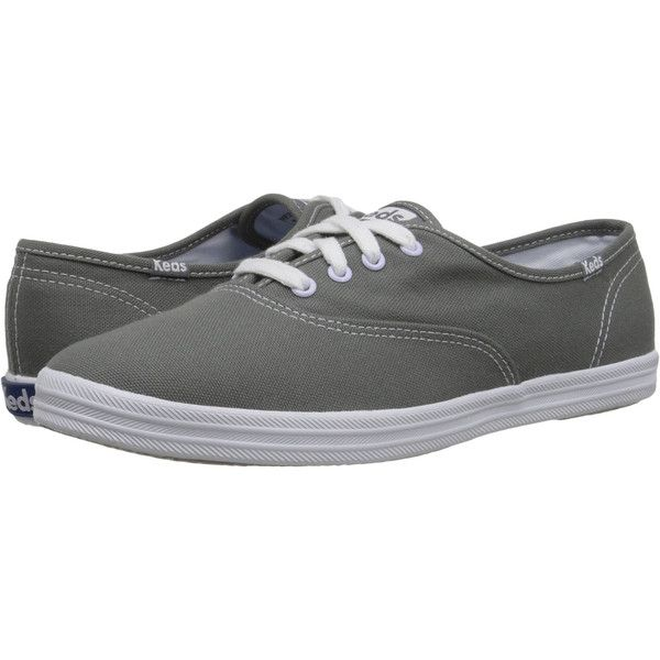Women's KEDS Champion Cotton Canvas Sneakers (250 DKK) ❤ liked on Polyvore featuring shoes, sneakers, fashion sneakers, grey, keds, plimsoll shoes, gray shoes, keds shoes and keds footwear