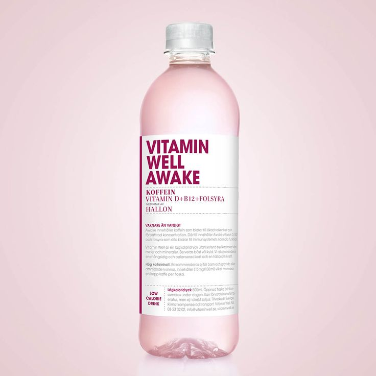 A novelty in the winter darkness - Vitamin Well Awake. Vitamin Well Awake contains caffeine, vitamin D, B12 and folic acid.