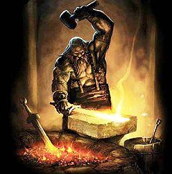 hephaistos god van smeedwerk, vuur en ambachten