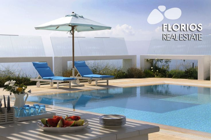 Relax & have fun! 2 swimming pools with spectacular sea view! Luxurious Villa for Sale on Mykonos island, Greece. (up to 30 guests) FL1452 http://www.florios.gr/en/mykonos-property/14.html