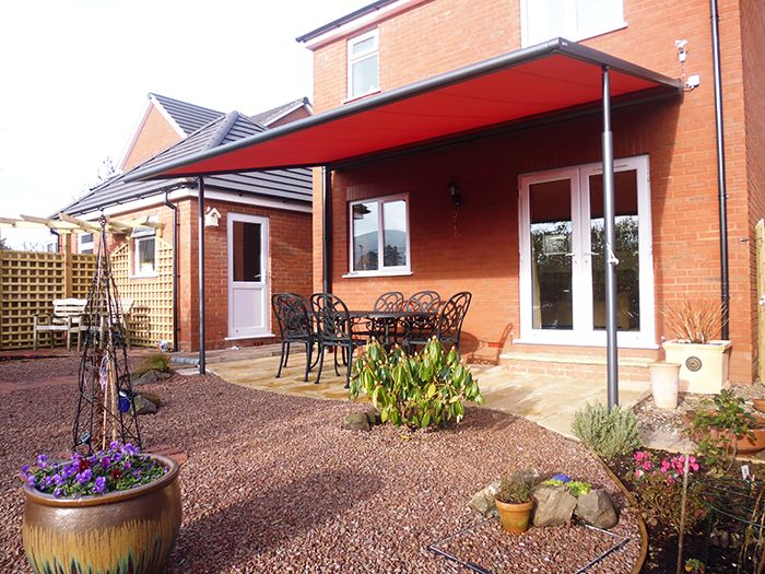 Red-Markilux-Pergola-retractable-canopy