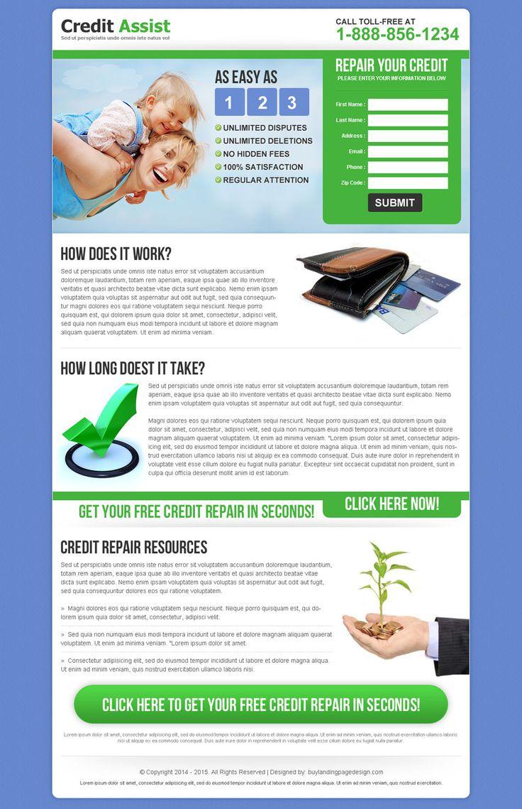 17 best credit repair landing page design images on pinterest landing lp and design websites. Black Bedroom Furniture Sets. Home Design Ideas