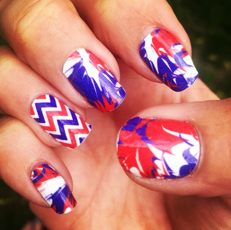 Buffalo Bills Nail Art - Buffalo football fans cheer on the Bills with our game winning NFL #NailArtDesigns! Spirit Wear Nail Wraps is your one stop fan shop for #NailSwag in your favorite team colors. Find designs in red, white & blue. Mix & Match to create the perfect #mani for game day or any day.