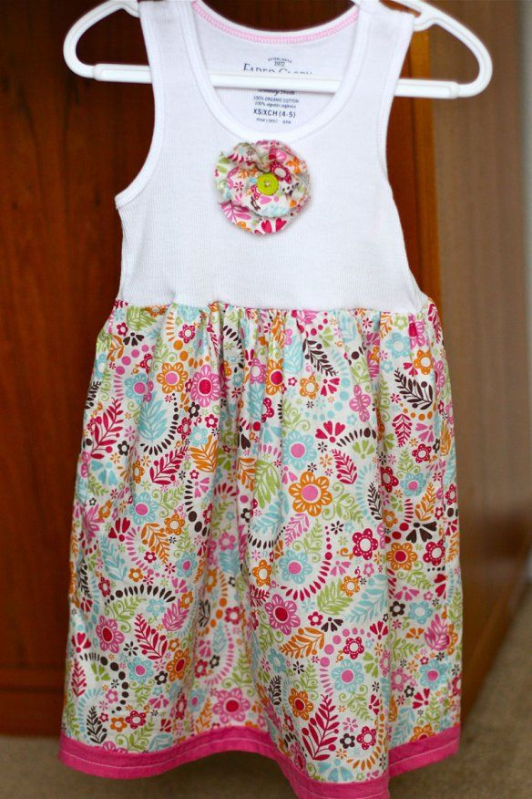 DIY - little girls Tank Dress Someone is making her LOTS of these for the summer!