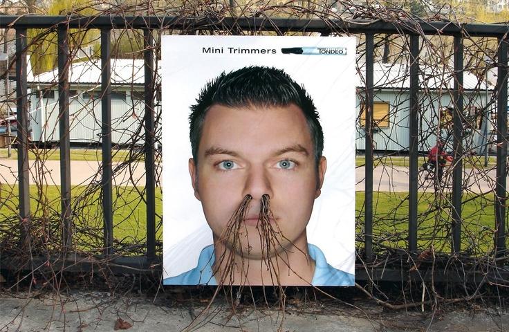 Cartaz para aparador de pelos no nariz