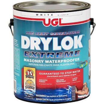 Masonry, Brick & Stucco Paint: DRYLOK Painting Supplies Extreme 1 gal. Masonry Waterproofer, White 28613