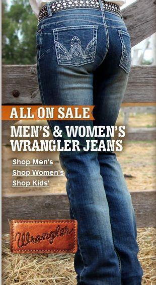 @Sheplers Western Wear Western Wear sale on Wrangler jeans