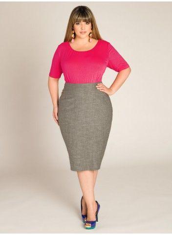 Perfect Waist Slim Pencil Skirt For Women Lady Knee Length Work Wear Skirts