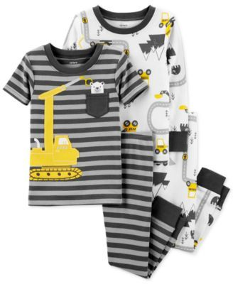 63100bf14 Toddler Boys 4-Pc. Construction Cotton Pajama Set