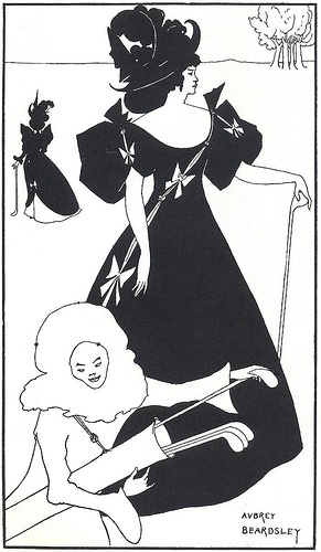 Aubrey Beardsley - is this great two dimensional art or a vintage poster?  I made my decision…
