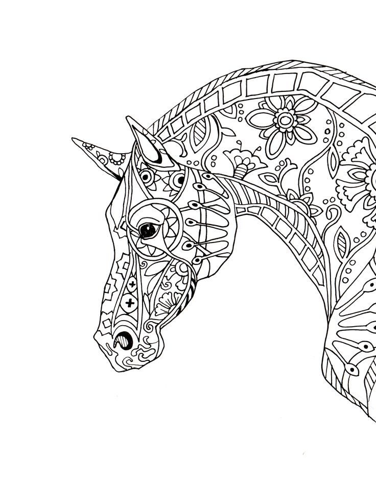 decorative-horse-profile-for-print.jpg (JPEG Image, 2550×3300 pixels)