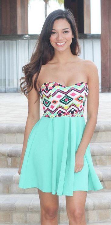 Mini Aztec Short Dress
