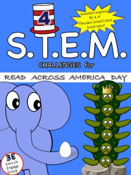 4 STEM Challenges for Read Across America Day Inspired by Seuss
