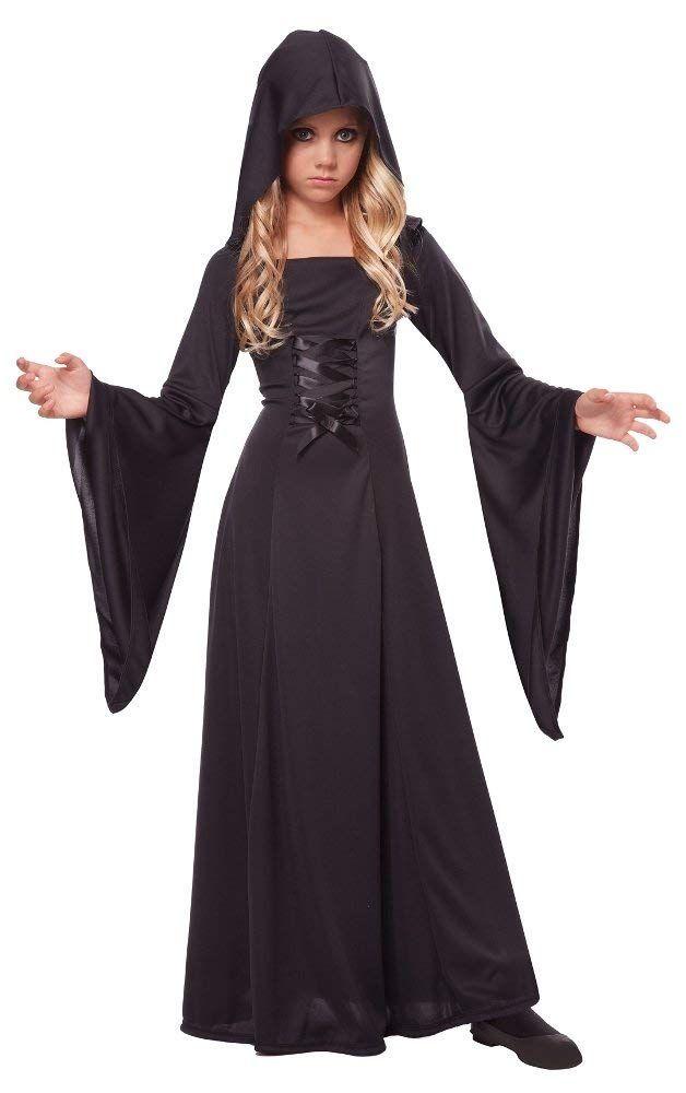 US Kids Girls Boys Hooded Velvet Cape Cloak Fancy Dress Robe Halloween Costume