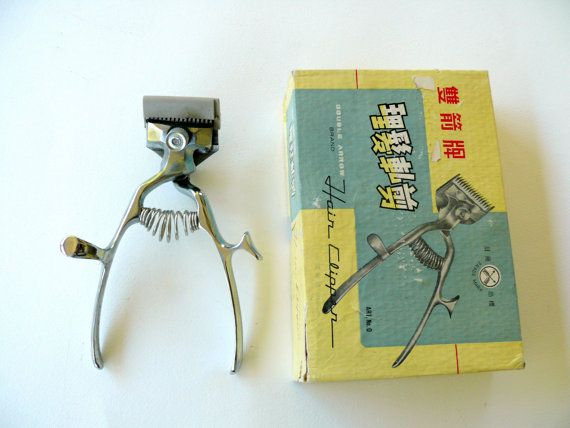 Barber Hair Clipper in Original Box Vintage Barber by FrenchCandy