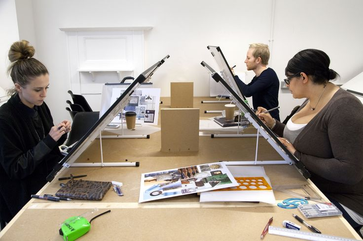 Students At Their Drawing Boards In Our Introduction To Interior Design Class Photograph Spine Photographic