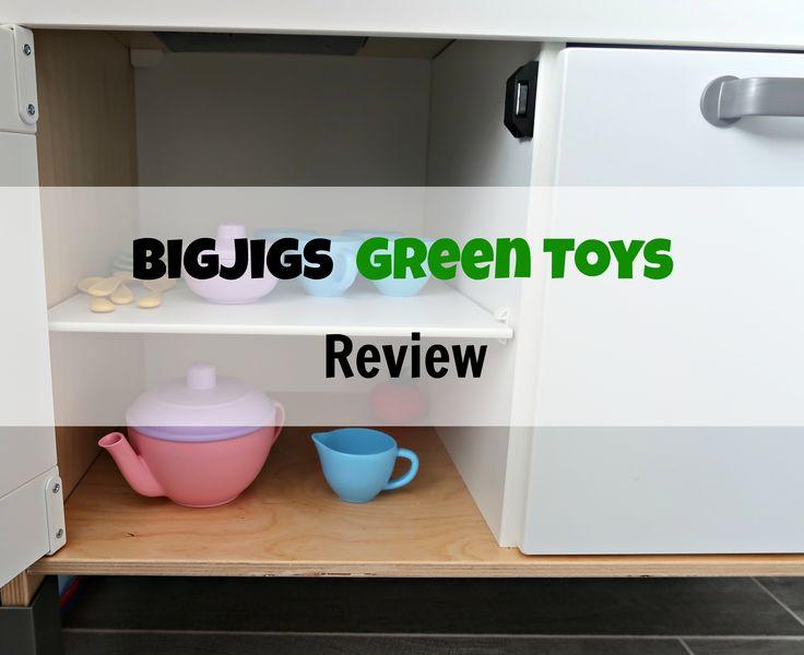 Bigjigs toys green toys review. Tea pot set