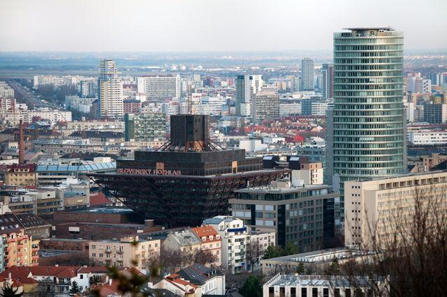 Inverted Pyramid building in the center of Bratislava, Slovakia... #Pyramids