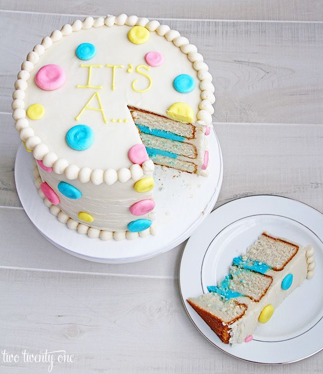 Gender Reveal Cake. Gender in an envelope from the hospital so it's a surprise. Give the envelope to a cake shop for a big reveal.