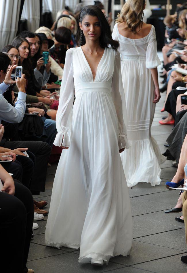 Peasant Sleeve Wedding Dress | Delphine Manivet Fall/Winter 2015 | blog.theknot.com