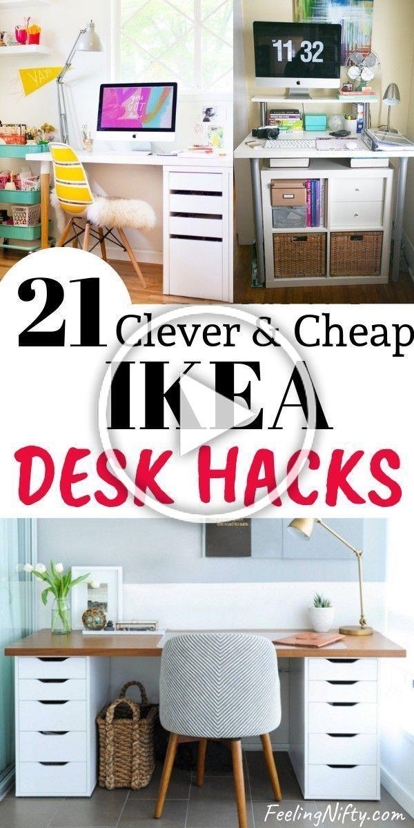 Pin By Teodora Marvel On Diy In 2020 Ikea Desk Hack Desk Hacks Ikea Desk