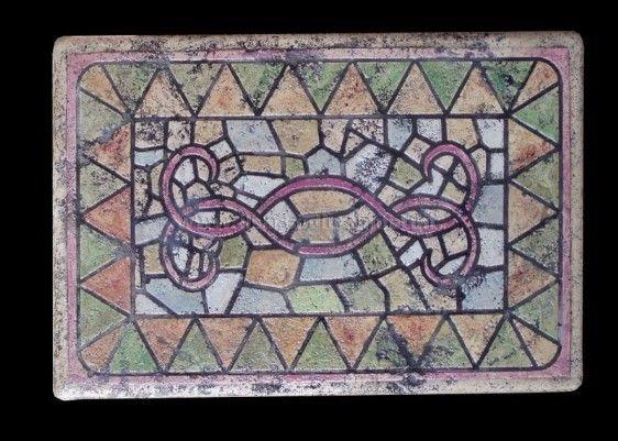 Tavolo mosaico ~ Cassettirera da tavolo mosaico artistico sulle tinte del viola