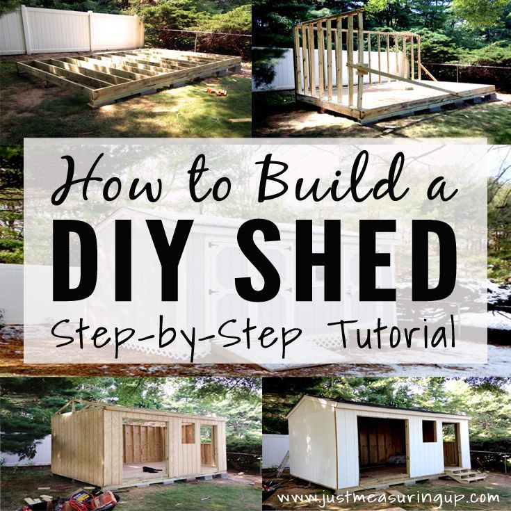 hereu0027s how to build a storage shed from scratch all of the tools steps and materials are here