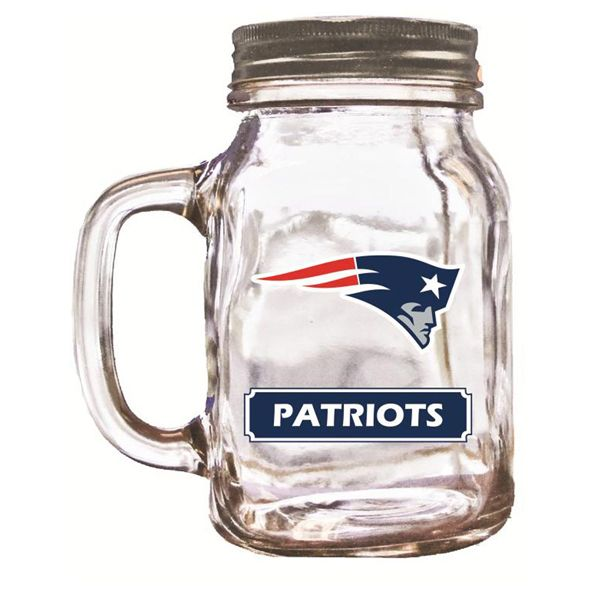 Check out the deal on New England Patriots Mason Jar Glass at The Paper Store