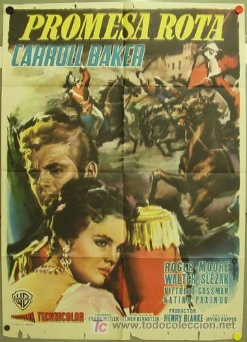THE MIRACLE (1959) - Carroll Baker - Roger Moore - Walter Slezak - Vittorio Gassman - Katina Paxinou - Directed by Henry Blanke - Warner Bros. - Italian Movie Poster