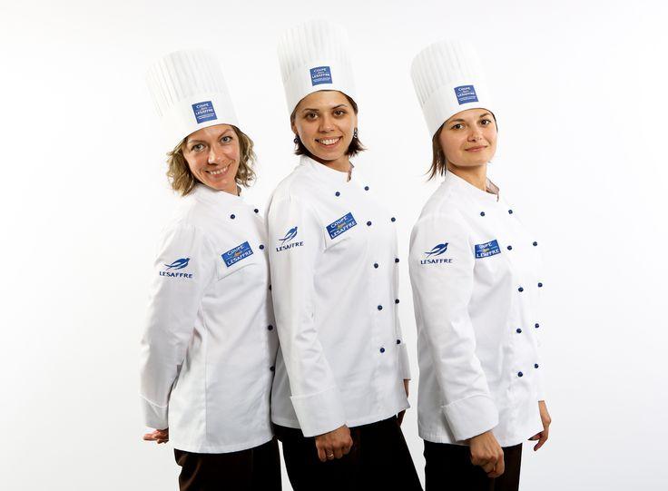 [RUSSIAN TEAM - Europe Selection]  Elena ANANYINA - Breads candidate Anna GRIBANOVA - Viennese pastries candidate Vassilisa ZIATKOVSKAYA - Artistic piece candidate  #BakeryLesaffreCup #Europe #RUSSIA #bread #baking  Crédit photo @ClémentineBéjat