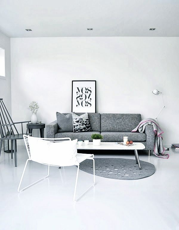 Via Keltainen | Therese Sennerholt | HAY Chairs | Grey and White