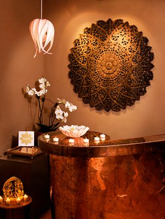 Front counter space. Organic shape with the sparkle of copper.