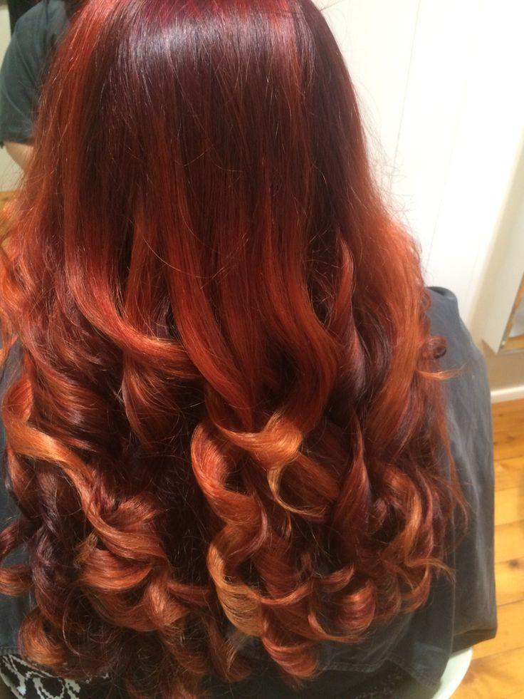 Created behind the chair @amanda_the_art_of_hair.  Melting pots of copper indulgence  #paddingtonhair #brisbane #love #hairstylist #haircolor #behindthechair #wella