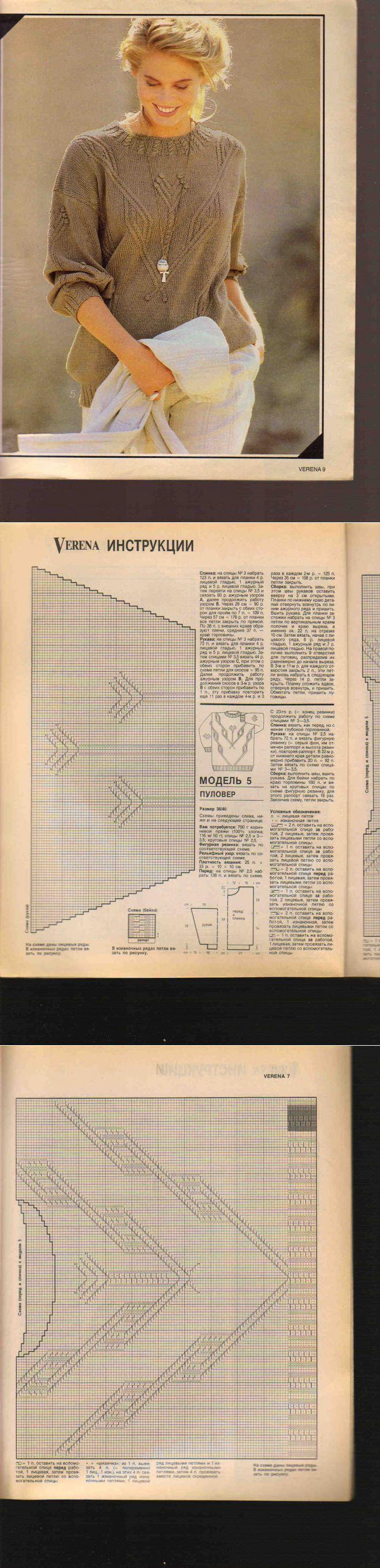 针织长袖衫 - 蕾妮的日志 - 网易博客 | вязание | Постила