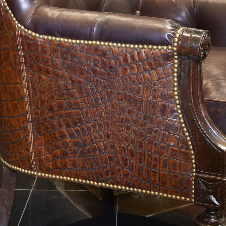 Small Nailhead Trim Detail And The Gorgeous Alligator Skin Upholstery Make  This Piece Unique And Interesting.
