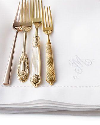Gold flatware. Fancy a bite?