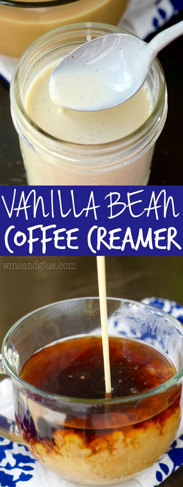 This Vanilla Bean Coffee Creamer could not be easier to throw together, but it is such a fun treat for your morning coffee.
