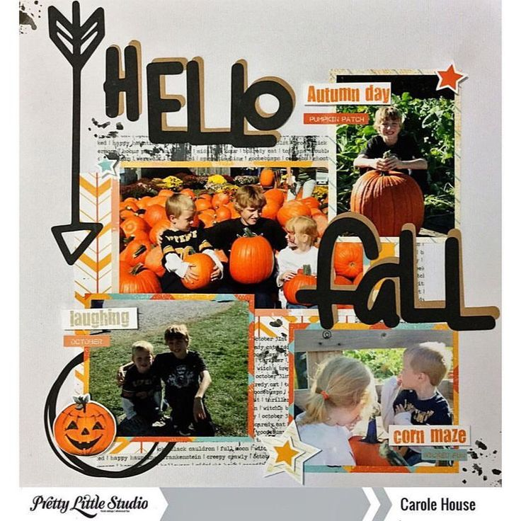 "33 Likes, 1 Comments - Pretty Little Studio (@prettylittlestudio) on Instagram: ""Designer @cjhouse5103 has created this beautiful Fall-filled layout with the Oakley Avenue…"""