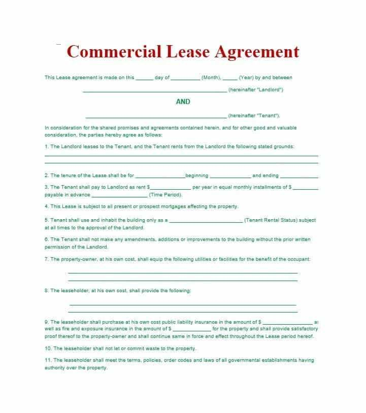 Free Printable Simple Rental Agreement Basic Horse Template
