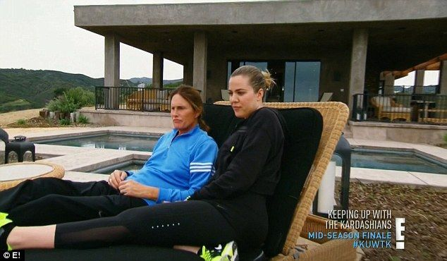 Check out my new home! Caitlyn gave viewers a tour of her new Malibu home on Sunday night's mid-season finale of Keeping Up With The Kardashians, seen here with Khloe