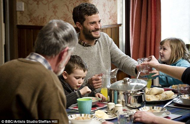Screen star: Jamie plays serial killer Paul Spector who goes back home to his young family after his nightly killing sprees in hit crime sho...