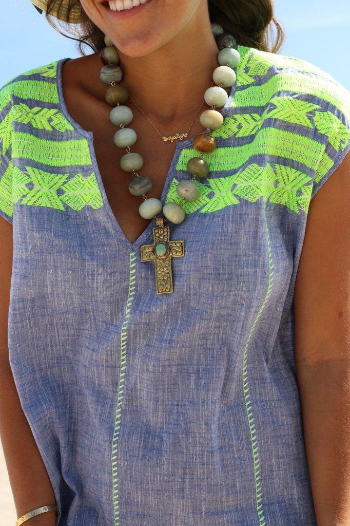 J.Crew embroidered Dolmain tunic - Beach Wear | VeryAllegra