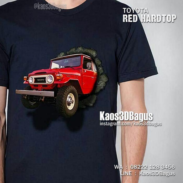 Kaos TOYOTA HARDTOP, Kaos Mobil Hardtop, Toyota Land Cruiser FJ40, Klub Toyota Hardtop, Kaos3D, https://instagram.com/kaos3dbagus, WA : 08222 128 3456, LINE : Kaos3DBagus