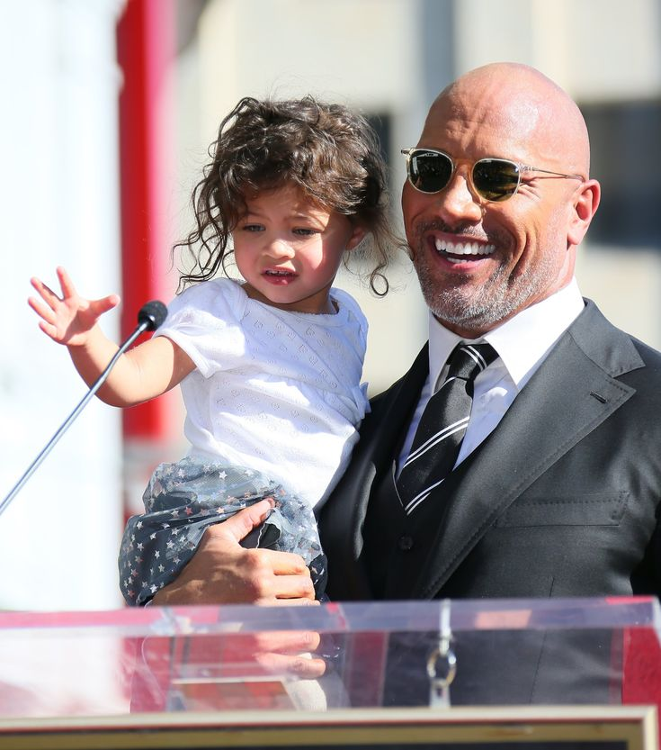 Dwayne Johnson and Family at Hollywood Walk of Fame Ceremony | POPSUGAR Celebrity