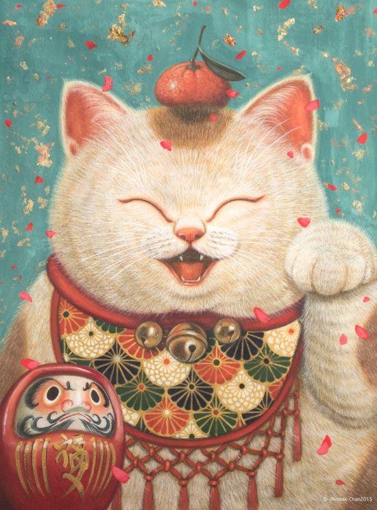Maneki Neko Art Print by Phoenix Chan | Society6♥•♥•♥