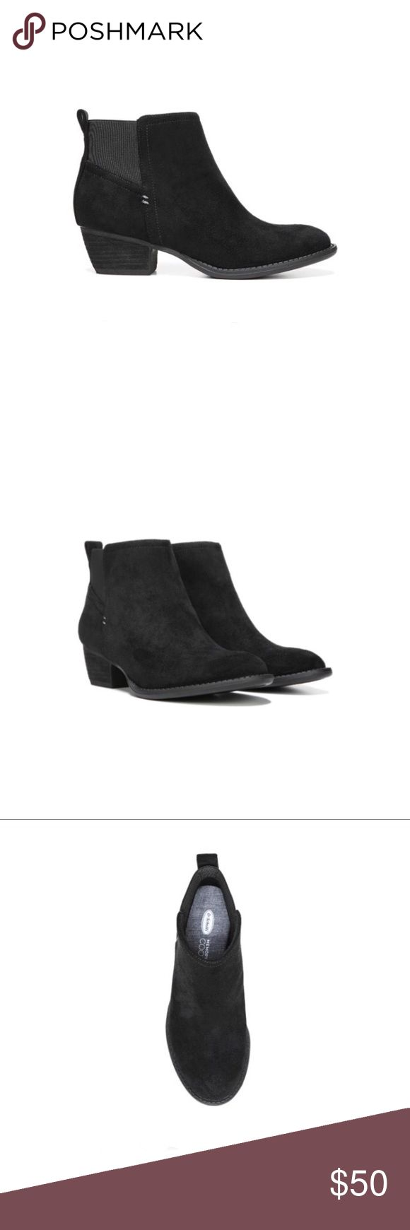 """Dr. Scholl's Jorie block heel Chelsea bootie Per Dr. Scholl's website """" A classic reinvented for comfort. You'll want this bootie for its sheer versatility, everyday style and notch-stitch detailing. The right choice for go-anywhere jeans or cords.  Tumbled finish upper Double gore for easy slip-on Memory Foam Cool Fit™ insole 1 and 1/4 inch leather wrapped stacked block heel"""" These booties are new with box and true to size. Please let me know if you have any questions :) Dr. Scholl's Shoes…"""