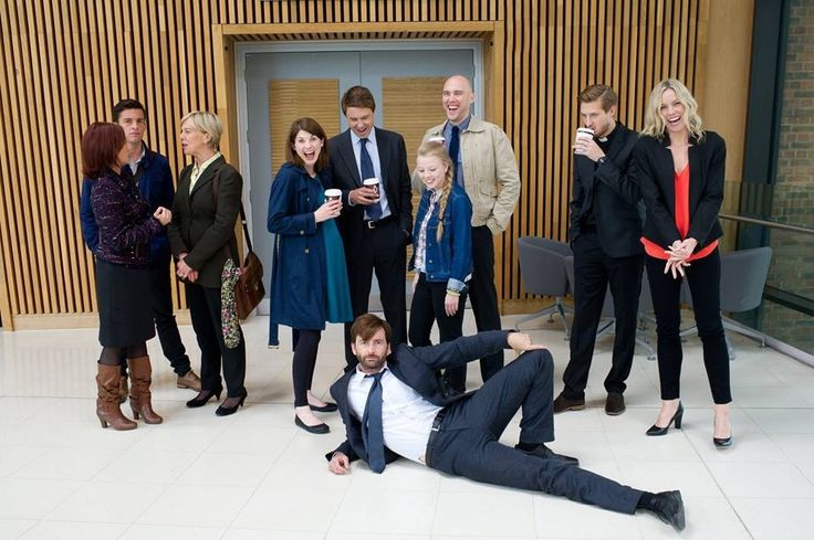 Alec Hardy turns part time catalogue model... I always knew he was a tart!#broadchurch 2 (reason Miller's absent is because she's in the toilet pissing her sides!) Source: Facebook