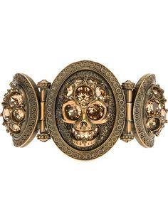 ... Skull #Bracelet by Alexander McQueen #jewelry ...